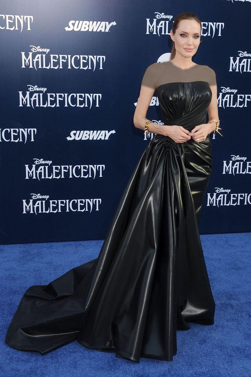 مدل های لباس آنجلینا جولی که دنباله نسبتا کوتاهی هم دارد