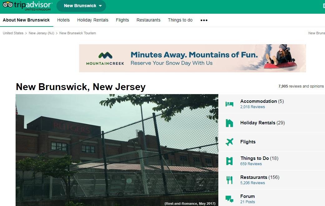 کاربران نیوبرانزویک گرد تریپ ادوایزر