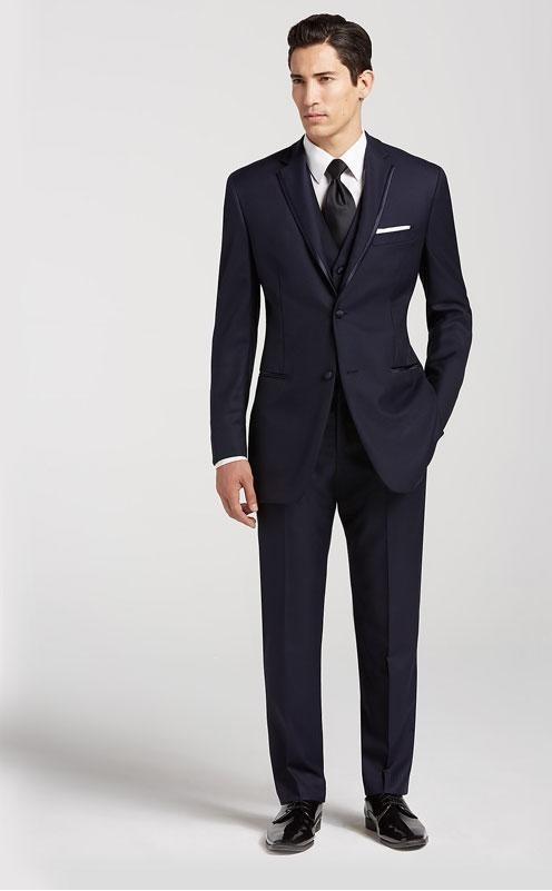 کت و شلوار دامادی به رنگ آبی تیره
