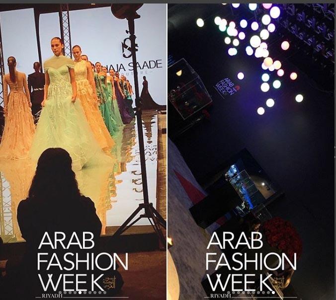 طراح لباس سعودی در استیج نخستین هفته مد عربستان