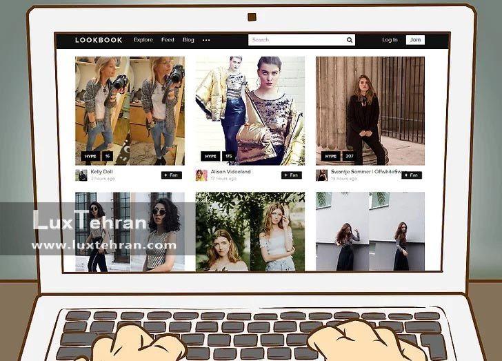 مانکن ها و برندها و مدلینگ ها در اینترنت