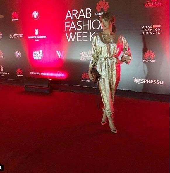تصویری از حلا الحریتی در هفته مد عربستان