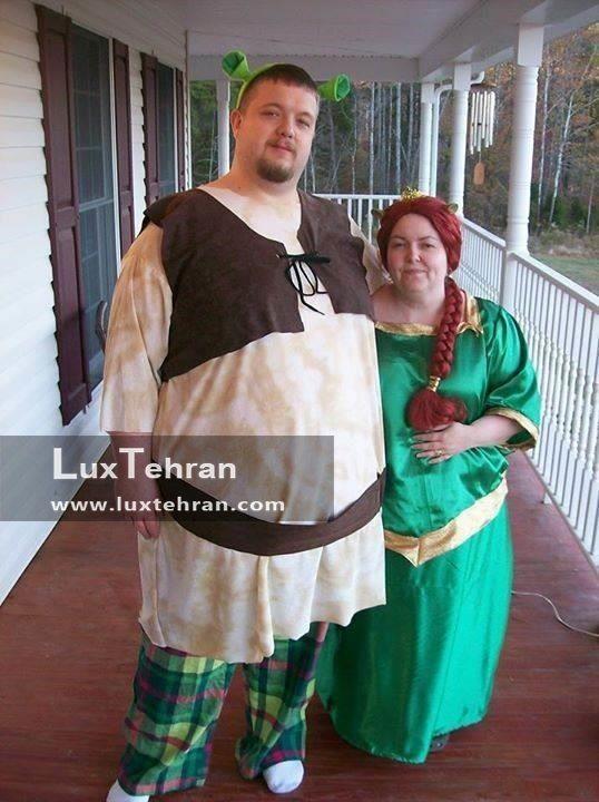 شرک و فیونا سبز پوش را در این استایل هالووینی