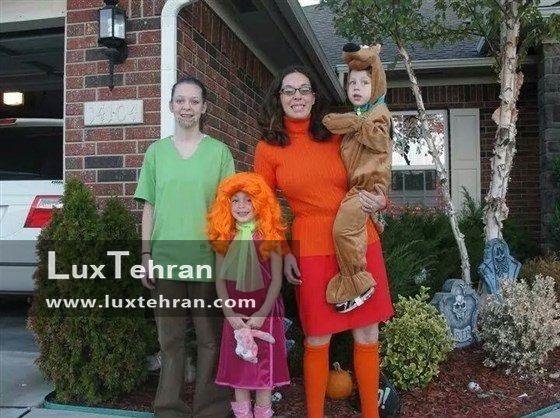 خانواده ای هلندی در جشن هالووین