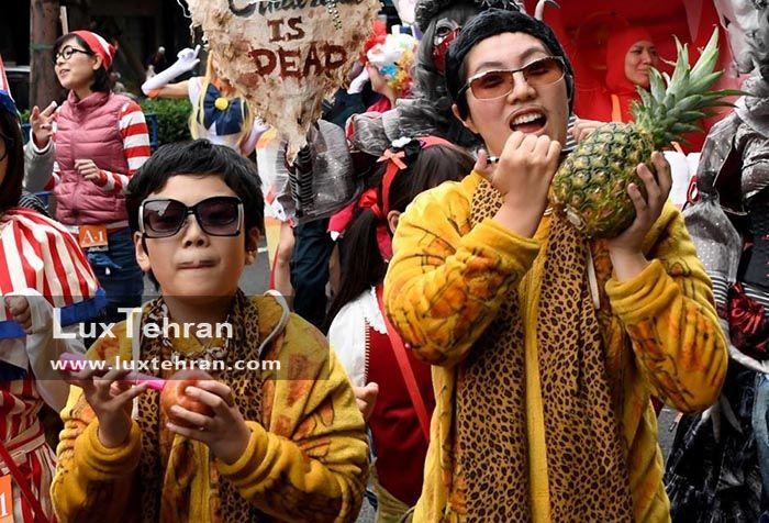 کارناوال های خیابانی ژاپنی جشن هالووین
