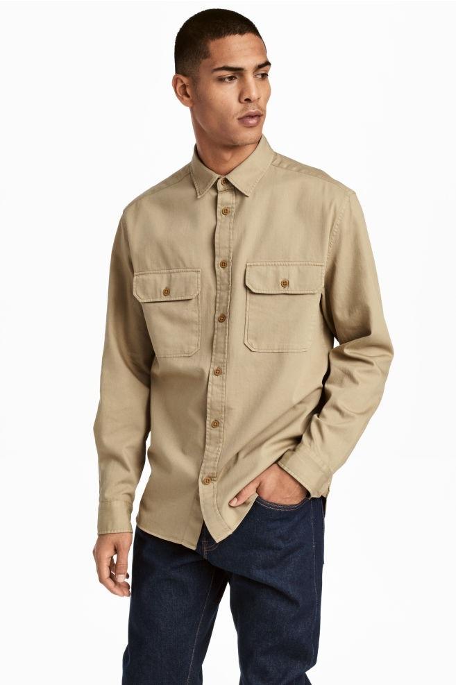پیراهن مردانه ساده و بهاری اچ اند ام