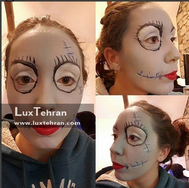 آرایش صورت در جشن هالووین