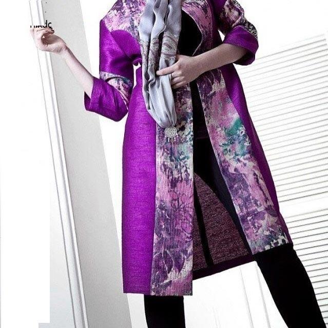 مدل مانتو مجلسی رنگ سال ۹۷