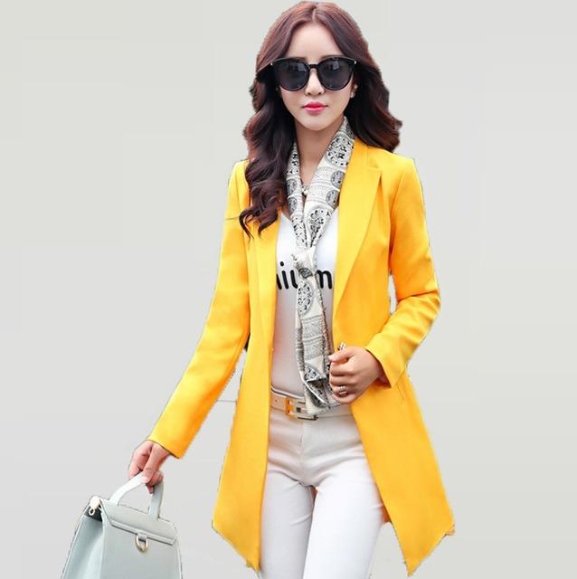 کت های زنانه بلند زرد رنگ آستین بلند
