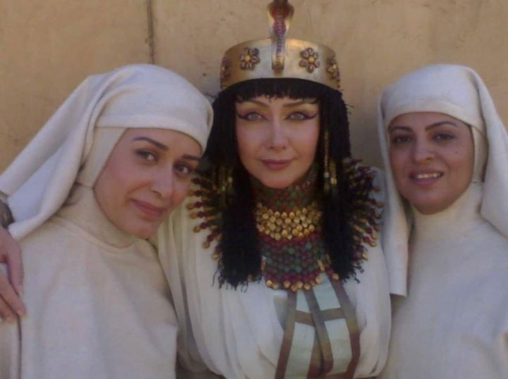 تیپ کتایون ریاحی در پشت صحنه سریال یوسف پیامبر