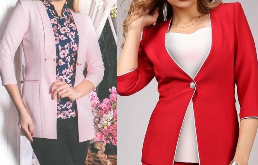 کت و شلوار زنانه مجلسی قرمز و گلبهی