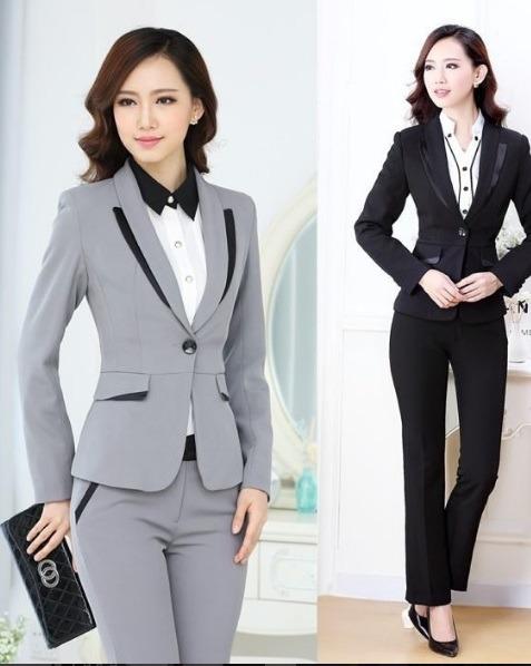 مدل های راسته و هم رنگ کت و شلوار های زنانه
