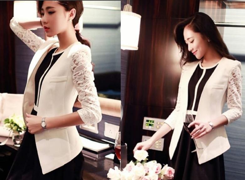 کت و شلوار زنانه سفید و مشکی ساده