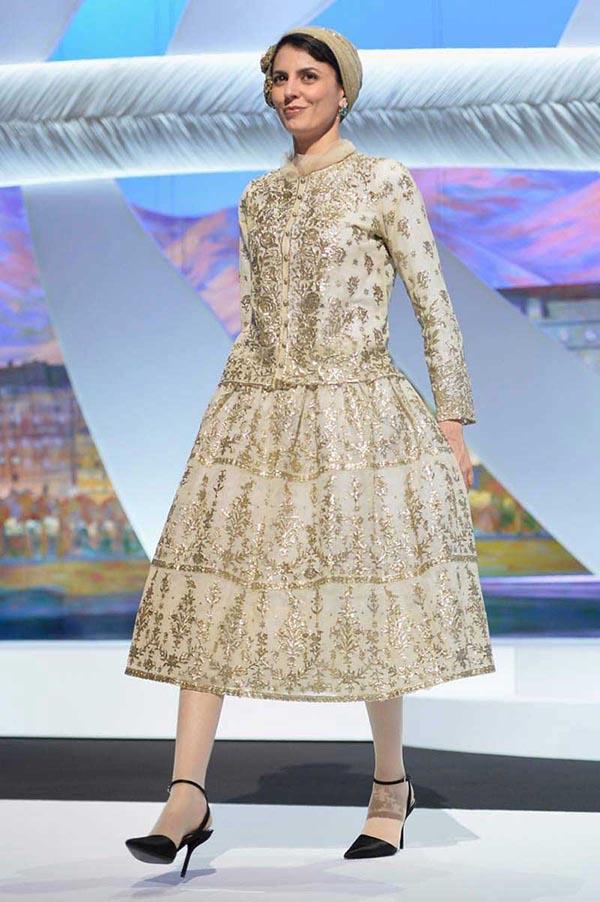 مدل توربان و لباس فاخر شیک و مجلسی بلند لیلا حاتمی