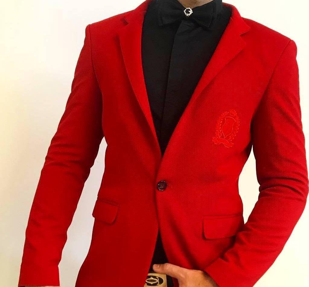کت و شلوار انگلیس قرمز رنگ