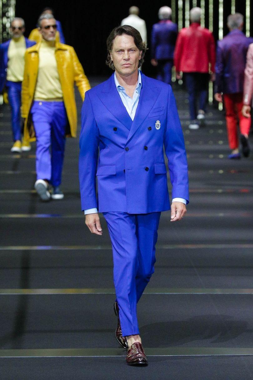 استایل های تمام آبی برای لباس مردانه