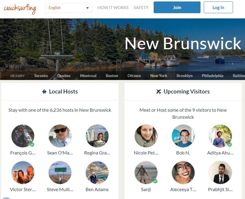 خدمات گردشگری و اقامتی نیوبرانزویک کانادا