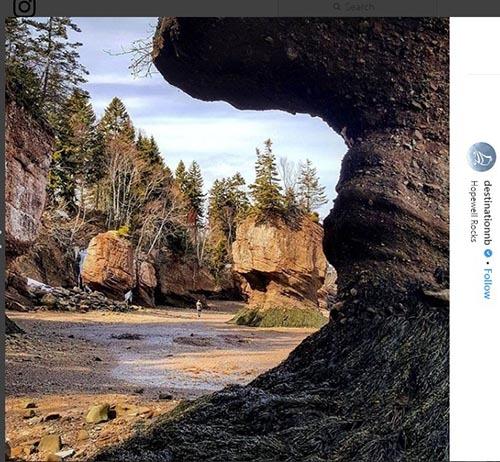 صخره های استان نیوبرانزویک کانادا