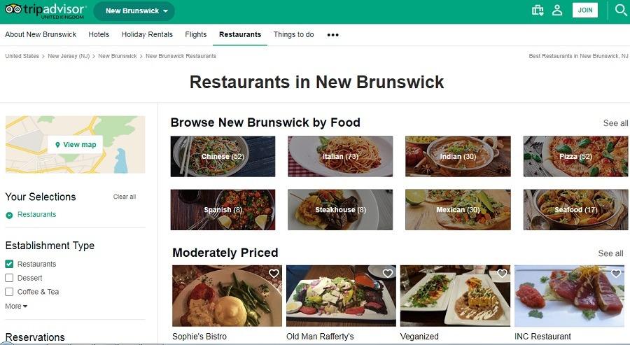 شکم گردهای تریپ ادوایزر در نیوبرانزویک