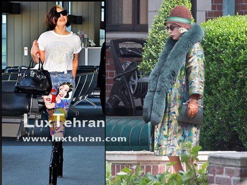 کلکسیون از لباس های عجیب لیدی گاگا با کیف های دستی چرمی
