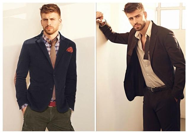 جرارد پیکه در کت و شلوار و کراوات برند منگو