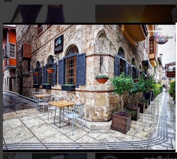 معماری یکی از خیابان های انتالیا