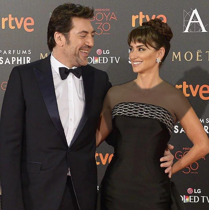 لباس لاکچری پنه لوپه کروز در کنار همسرش خاویر باردم