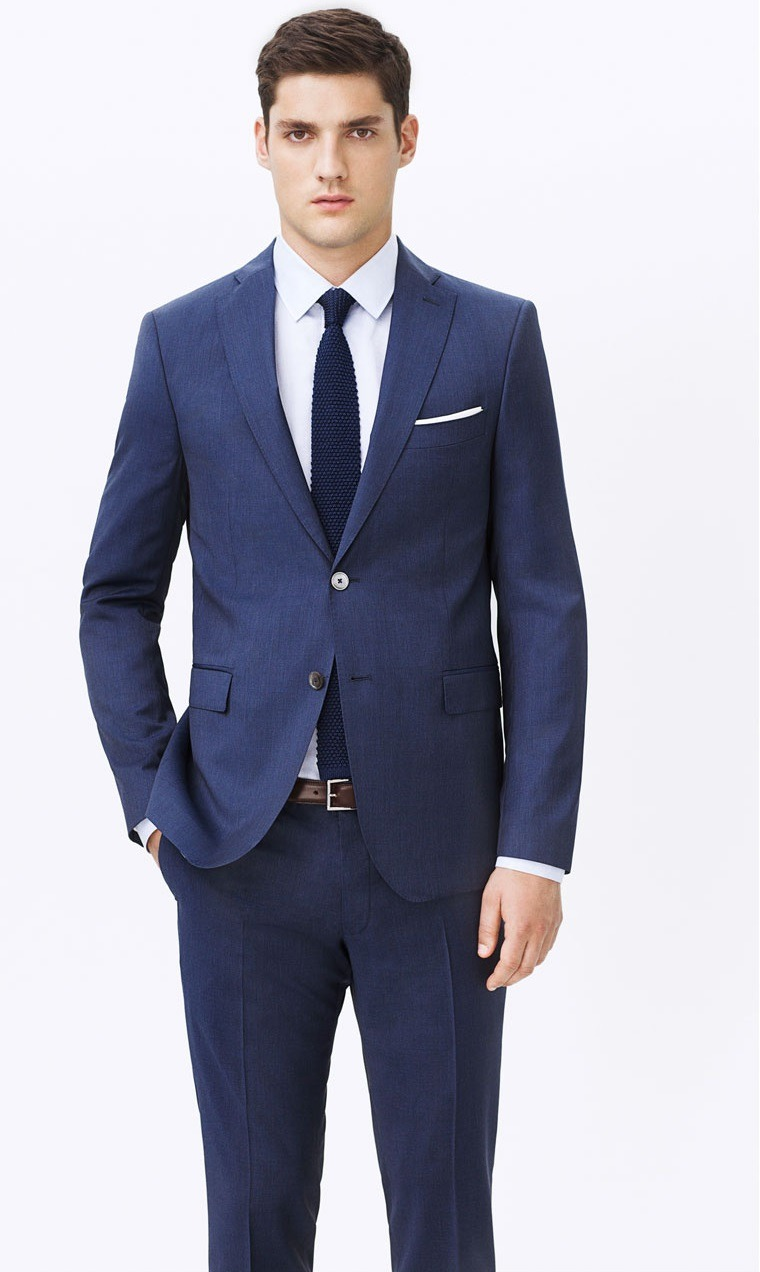 طرح کت و شلوار مردانه آبی کاربنی زارا