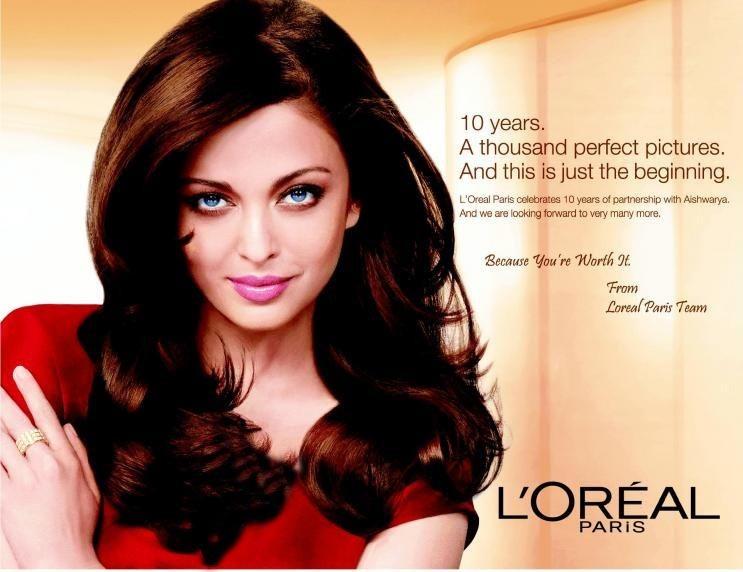 آیشواریا و فوتوشوتی برای برند لوازم آرایشی L'OREAL