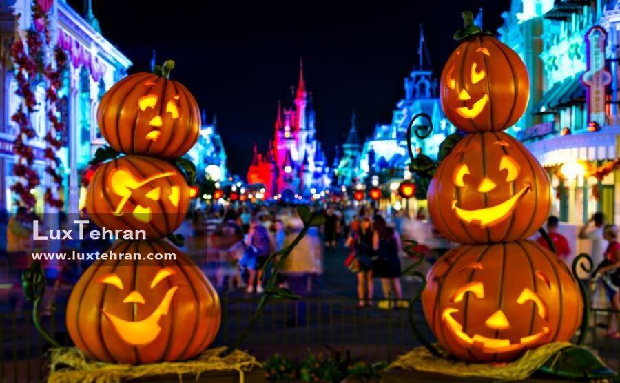 طراحی خیابان با نماد های دیدنی مراسم هالووین