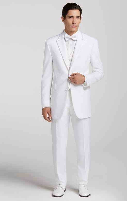کت و شلوار دامادی سفید رنگ