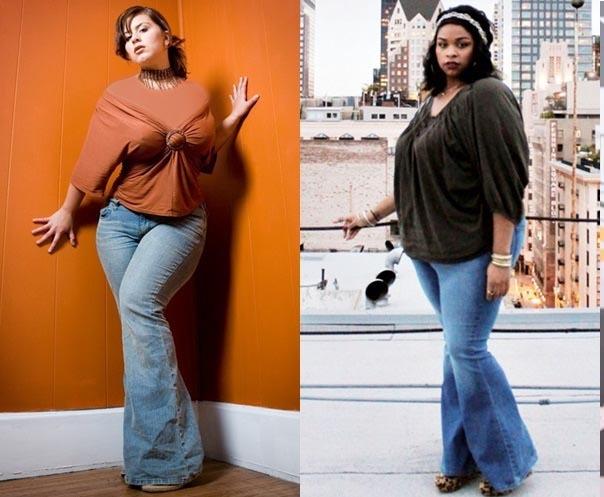شلوار پاچه گشاد برای زنان چاق