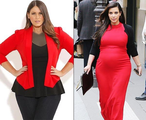 لباس حاملگی کیم کارداشیان