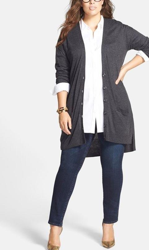 طراحی یقه و آستین لباس زنان چاق