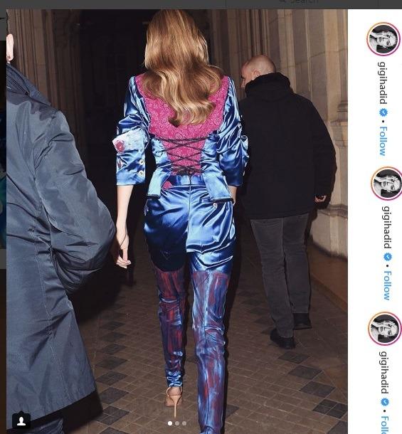 جی جی حدید و تیپ لباس بهاره