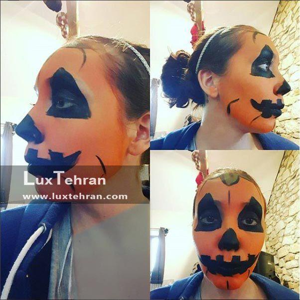 شیوه طراحی صورت کودکان در جشن هالووین