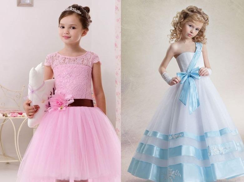 لباس عروسی بچه گانه صورتی و آبی