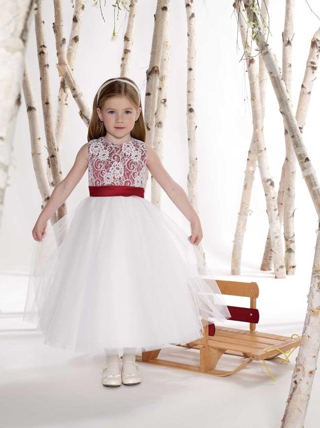لباس عروس بچه گانه قرمز دار