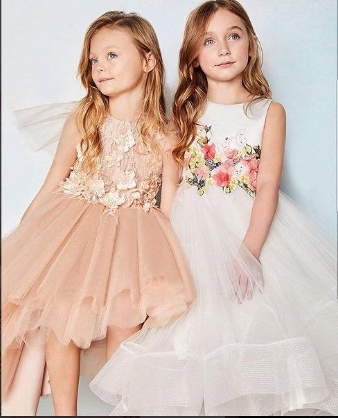 لباس عروس بچه گانه کمر گلدار