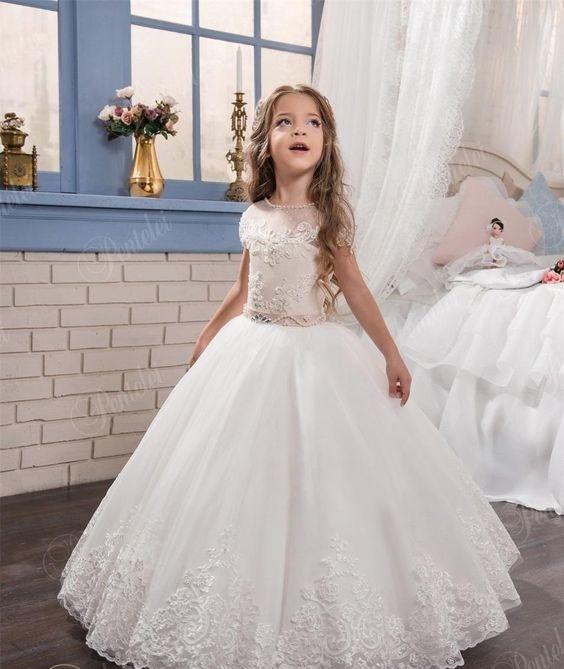 لباس عروس بچه گانه با موی باز