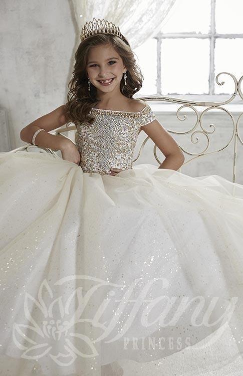 لباس عروس بچه گانه بالا تنه نگینی