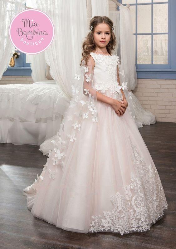 لباس عروس بچه گانه پروانه دار