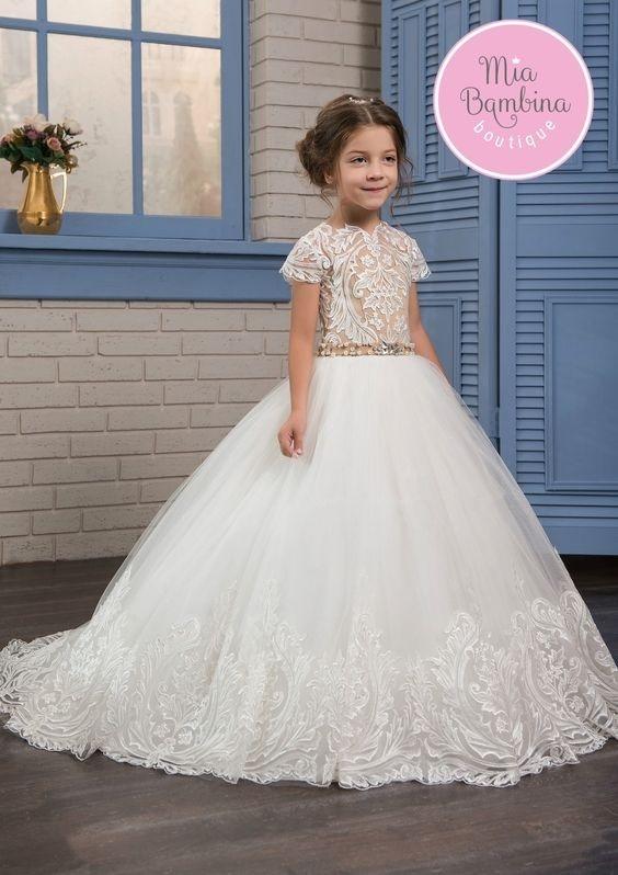 لباس عروس بچه گانه پرنسسی بلند