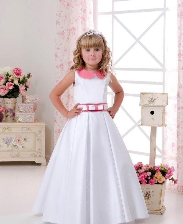 لباس عروسی بچه گانه یقه دلبری