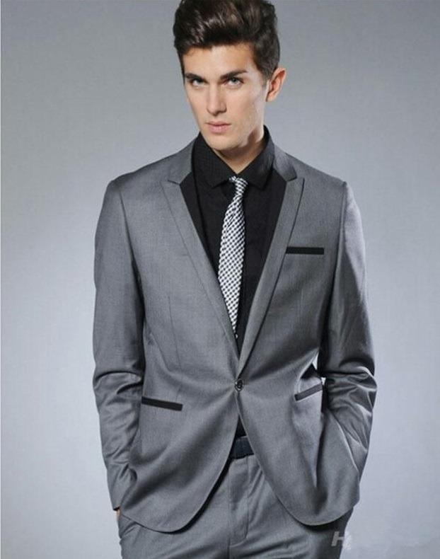 طرح کت و شلوار مردانه خاکستری رنگ