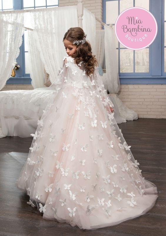 لباس عروس بچه گانه پروانه ای