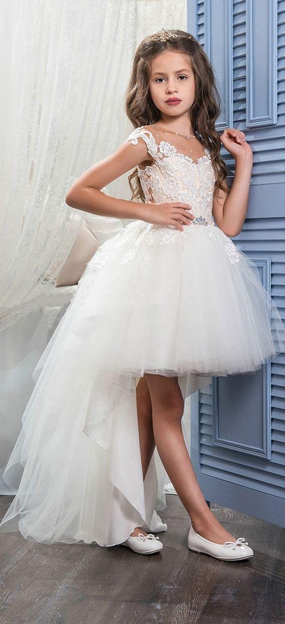 لباس عروس بچه گانه جلو کوتاه