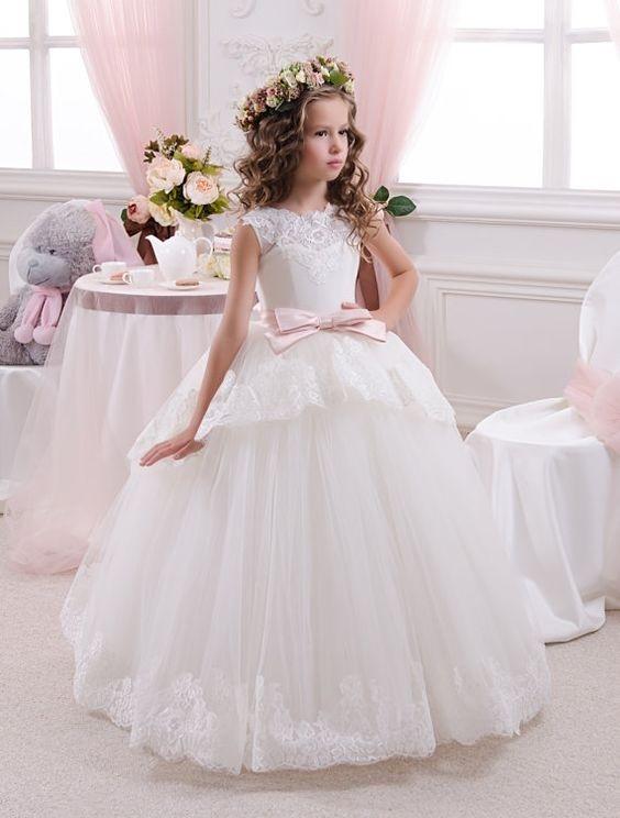 لباس عروس بچه گانه با تاج