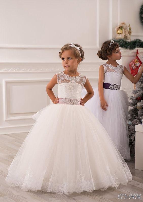 لباس عروس بچه گانه حلقه ای