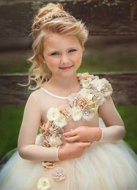 لباس عروس بچه گانه گلدار